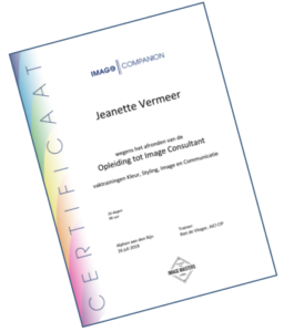 Certificaat image consultant